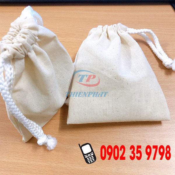 Xưởng may gia công túi rút vải bố mini theo yêu cầu